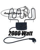 Angel Berger Elektroheizung für Räucherofen Räucherheizung Heizspirale 2000 W