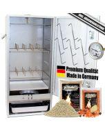 Angel Berger Premium Räucherofen hochwertiger Räucherschrank mit viel Räucherzubehör Smoker Räuchern
