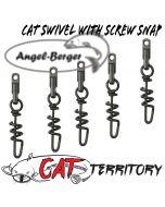 Mikado Cat Territory Cat Rolling Swivel with Screw Snap Welswirbel Wallerwirbel