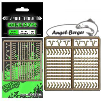Angel Berger Boiliestopper camo Boilie Stops Stopper Set