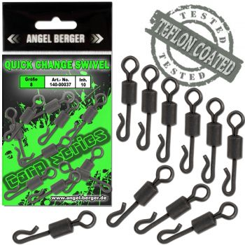 Angel Berger Carp Series Quick Change Swivels Wirbel