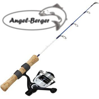Angel Berger Eis und Bootsangelset mit Rolle
