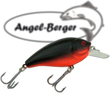 Angel Berger Fat Crank 3D Wobbler Black Minnow Raubfischköder
