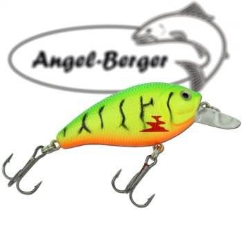 Angel Berger  Fat Crank 3D Wobbler Fire Tiger Raubfischköder