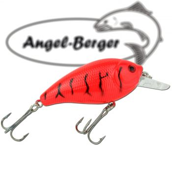 Angel Berger Fat Crank 3D Wobbler Red Tiger Raubfischköder