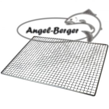 Angel Berger Räucherrost Flachrost mit Netz Käse Rost Gitterrost 35 x 26cm