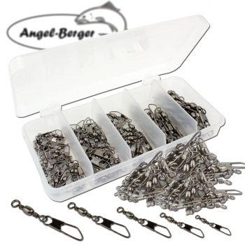 Angel Berger Wirbelsortiment Tönnchenwirbel in Box