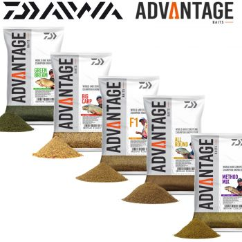 Daiwa Advantage Baits Groundbait 1kg Angelfutter Feederfutter Method Feeder