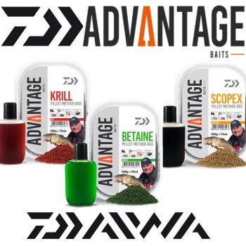Daiwa Advantage Baits Natural Method Pellet Box 500g + 75ml Liquid