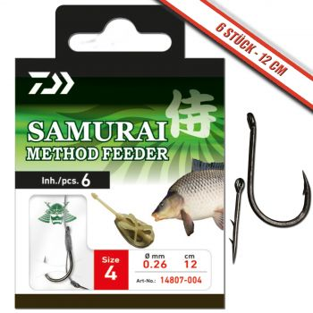 Daiwa Samurai Vorfachhaken Method-Feeder Feeder Haken Angelhaken