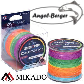 Mikado Braided Line Norway Quest 300m Countdown Multicolor Rund Geflochtene Angelschnur