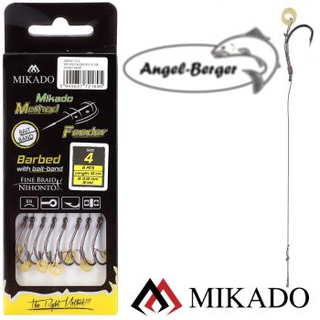 Mikado Method Feeder Rig with Bait Band Monofilament Vorfachhaken Feederhaken