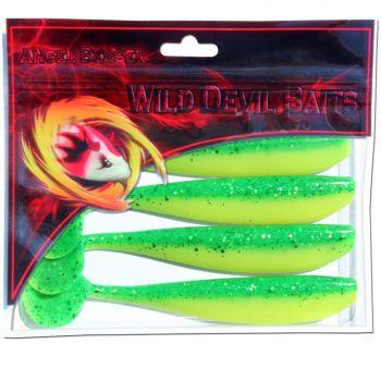 Wild Devil Baits Action Shad Gummifisch Green Flash Powerpack