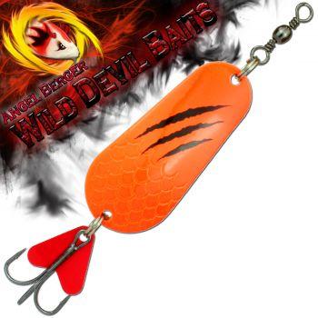 Wild Devil Baits Blinker Fluo Orange verschiedene Größen