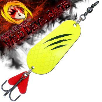 Wild Devil Baits Blinker Fluo Yellow verschiedene Größen