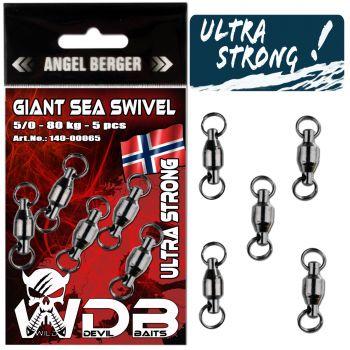 Wild Devil Baits Giant Sea Swivel Meereswirbel Norwegen Kugellager Wirbel