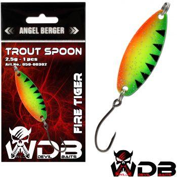 Wild Devil Baits Trout Spoon Fire Tiger Forellen Blinker Mini Spoon Forellenangeln
