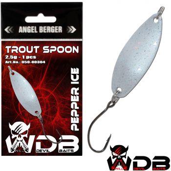 Wild Devil Baits Trout Spoon Pepper Ice Forellen Blinker Mini Spoon Forellenangeln