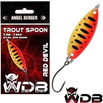 Wild Devil Baits Trout Spoon Red Devil Forellen Blinker Mini Spoon Forellenangeln