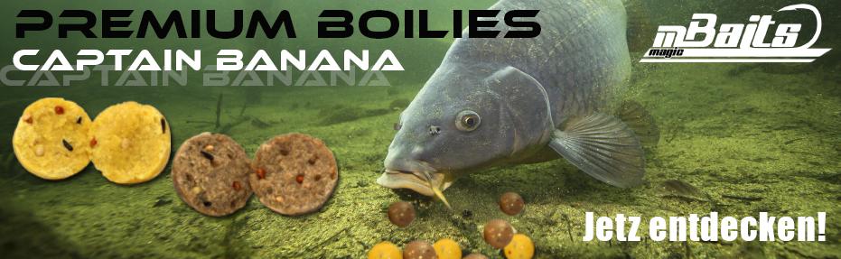 Jetzt NEU der Magic Baits Captain Banana Boilies Color Mix